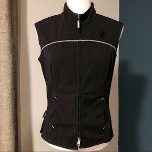 Arista black equestrian vest
